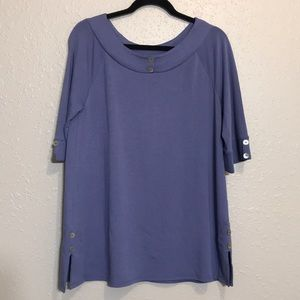Soft surroundings tunic top 3/4 Sleeves Sz s